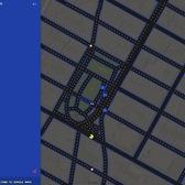 Playing Pacman around Union Square, Manhattan