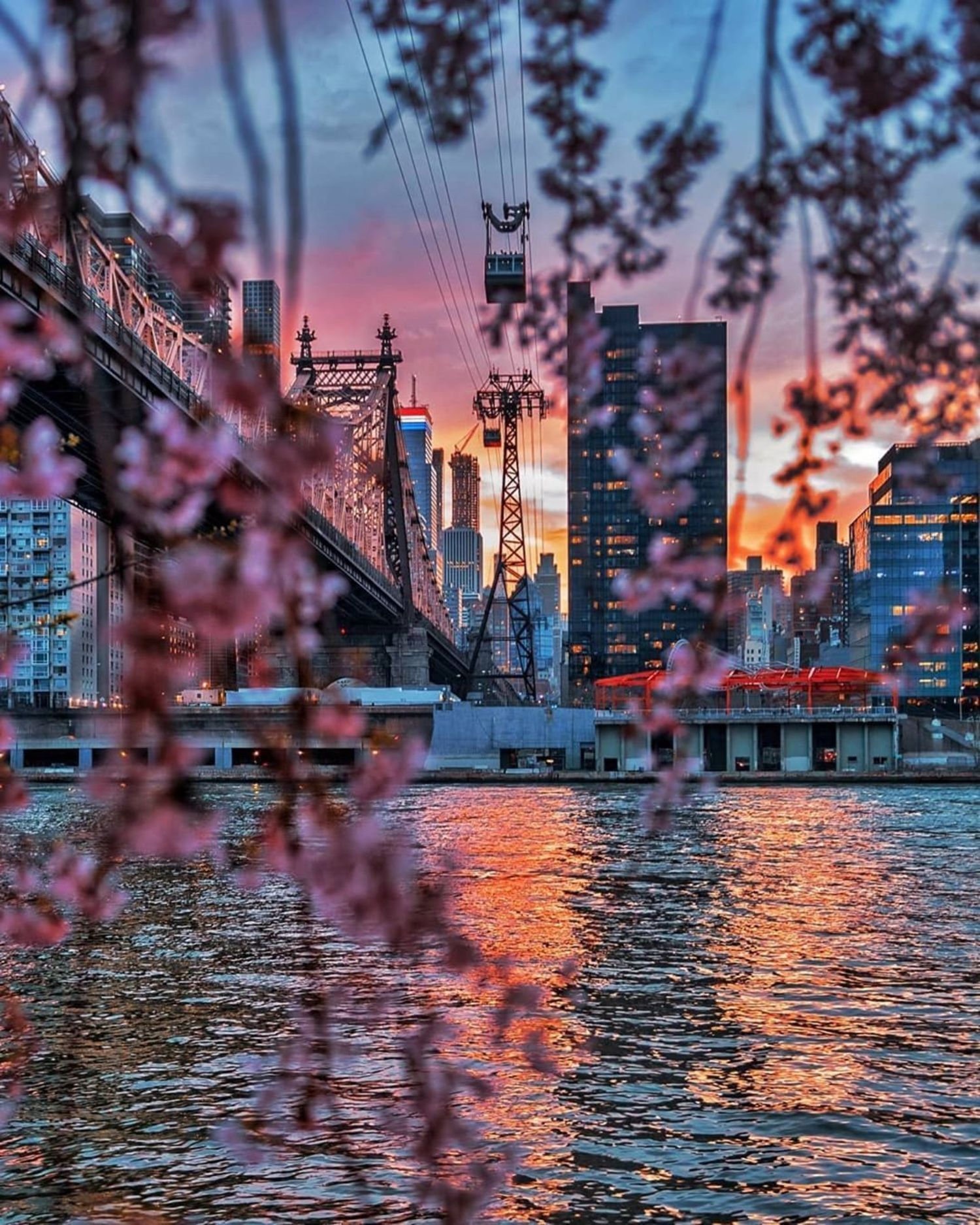 Sunset from Roosevelt Island.