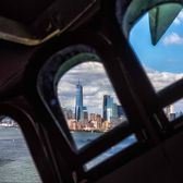 New York City from inside Statue of Liberty. Photo via @kylenowinski_photos #viewingnyc #newyorkcity #newyork
