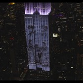 Empire State Building Projections with Harper's Bazaar