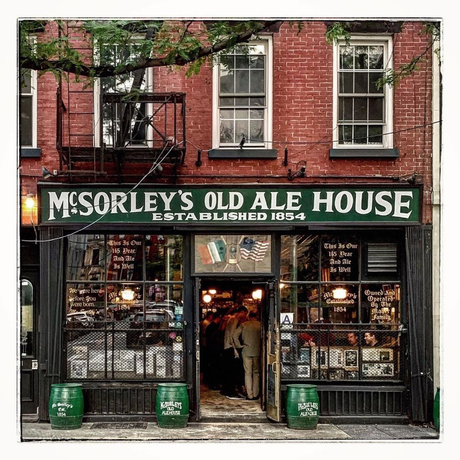 E 7th Street, New York, NY ... The fabled NYC watering hole that lent its name to Joseph Mitchell's 1943 classic McSorley's Wonderful Saloon, a favorite of mine in the canon of New York literature.