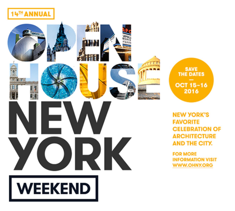 Open House New York Weekend October 15-16, 2016
