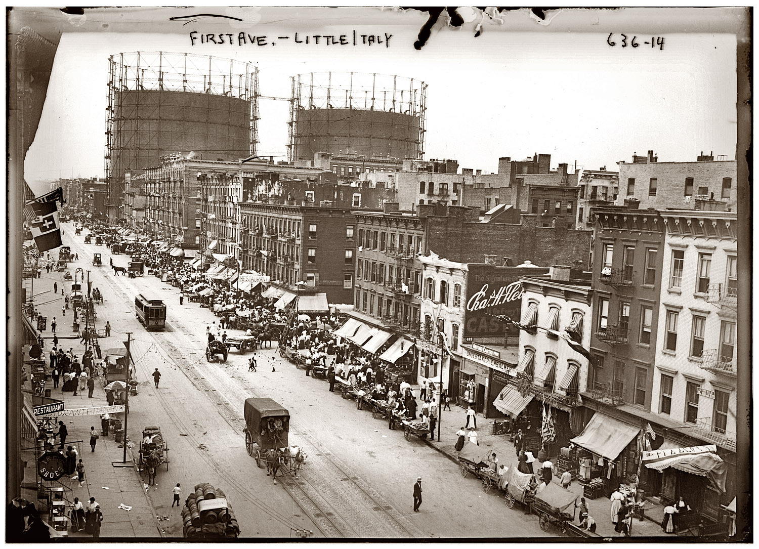 1st Ave and 29th Street Little Italy festa circa 1908.