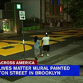 NYC's first 'Black Lives Matter' mural painted on street in Bed-Stuy