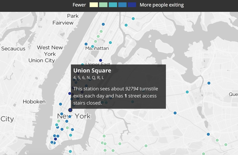 New York Subway Map Entrances.Wnyc Creates Interactive Map Of The City S Numerous Closed Subway