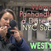Woman Panhandles for a Date on an NYC Subway