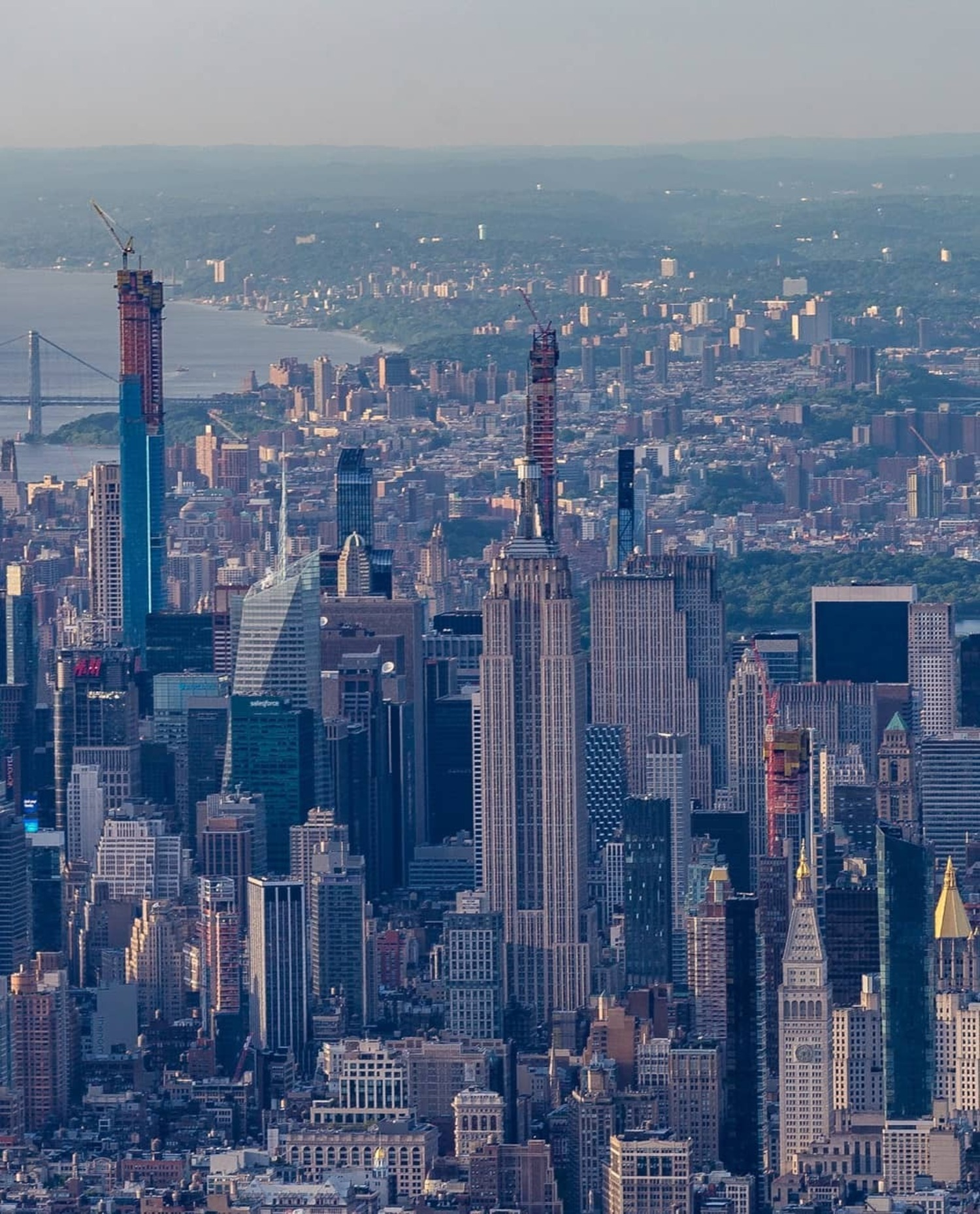 Looking North Over Midtown Manhattan