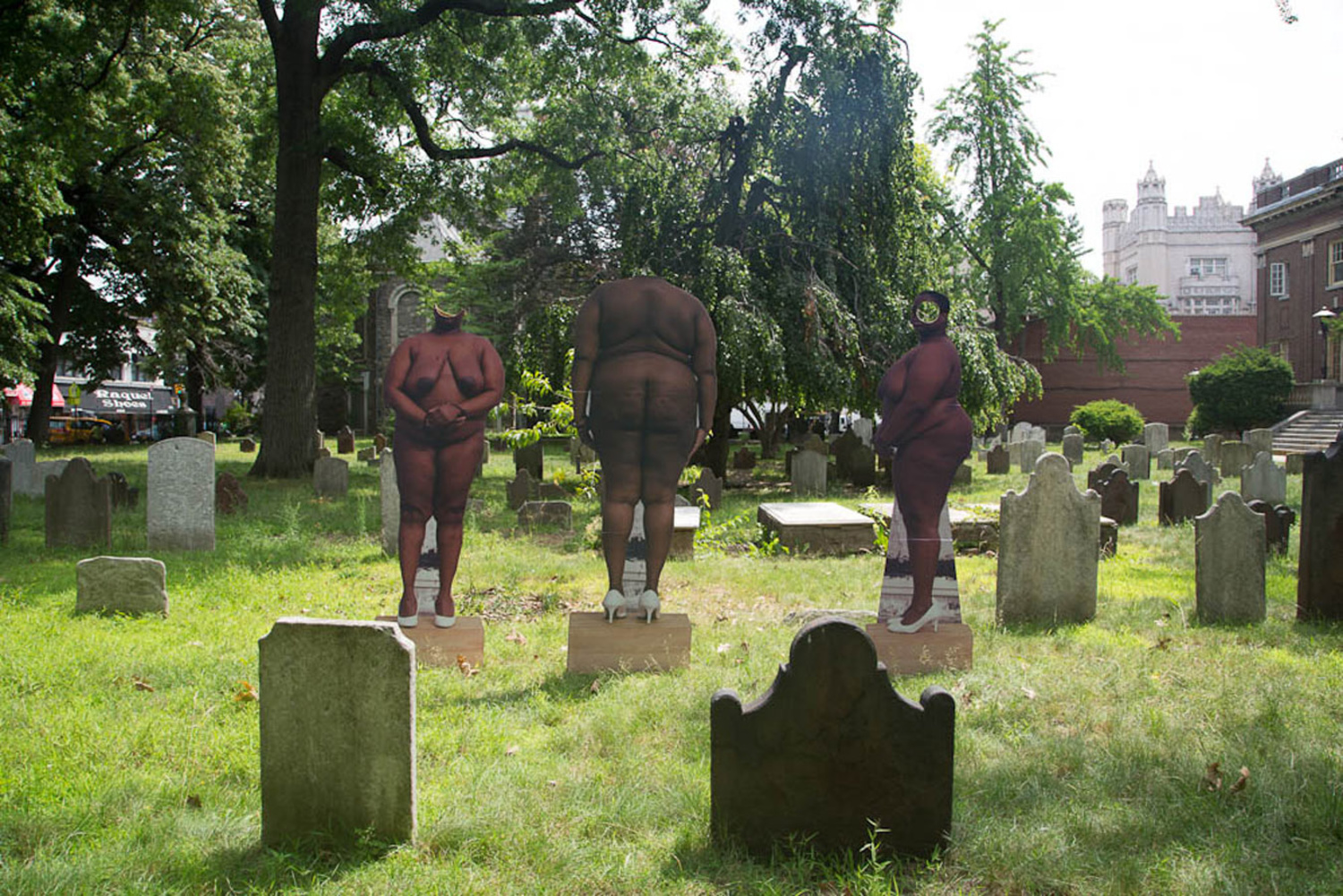 """Of My Body I Will Make Monuments In Your Honor"" 2014 — Dutch Pre-revolutionary Cemetery In Brooklyn. Where 3 slaves are buried, among the early settlers."