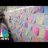 Subway Sticky Notes Aim To Uplift New Yorkers Post-Election | NBC News