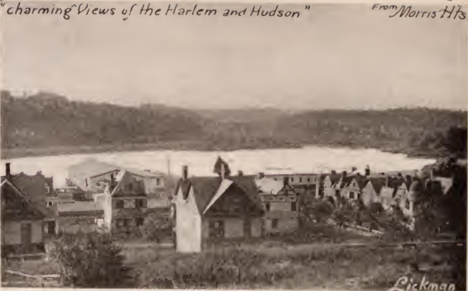 Charming views of the Harlem and Hudson Rivers from Morris Heights Bronx 1897