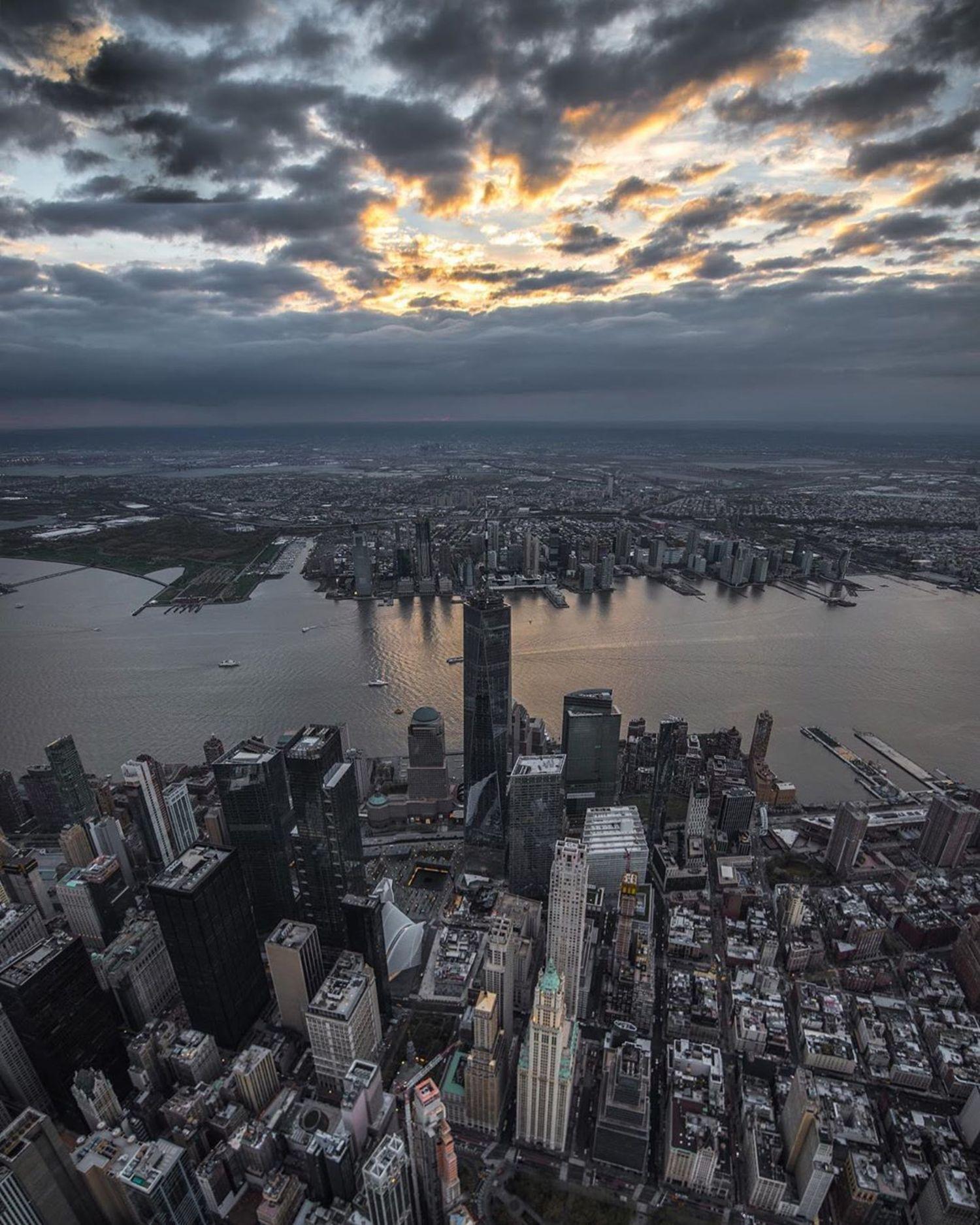 Lower Manhattan and Hudson River, New York, New York