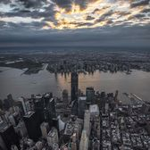 Lower Manhattan and Hudson River, New York, New York