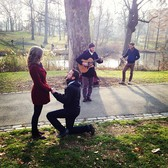 Dan Bowman & Jacob Metcalf busking for a proposal.