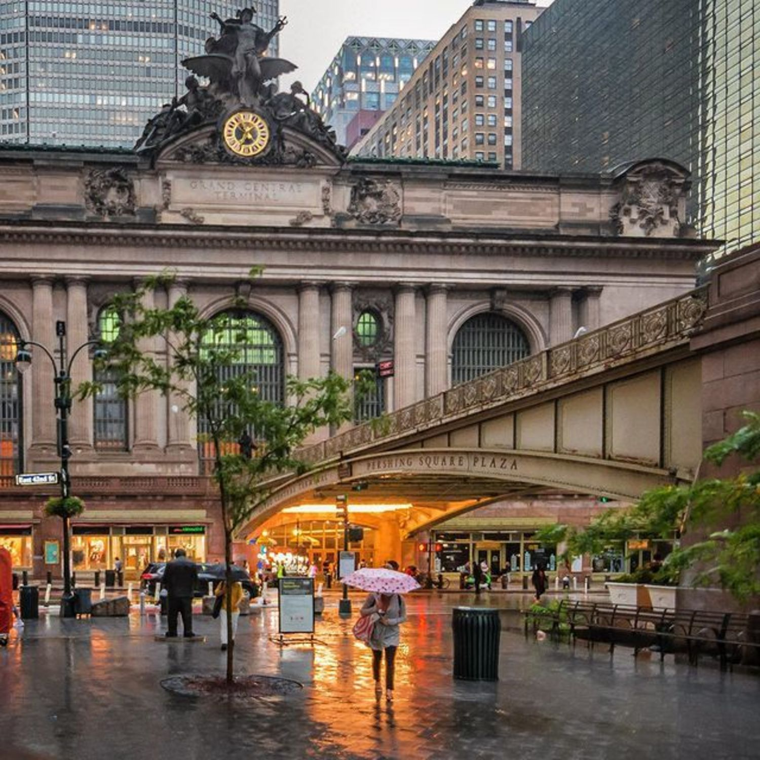Grand Central Terminal and Pershing Square Plaza, Midtown, Manhattan