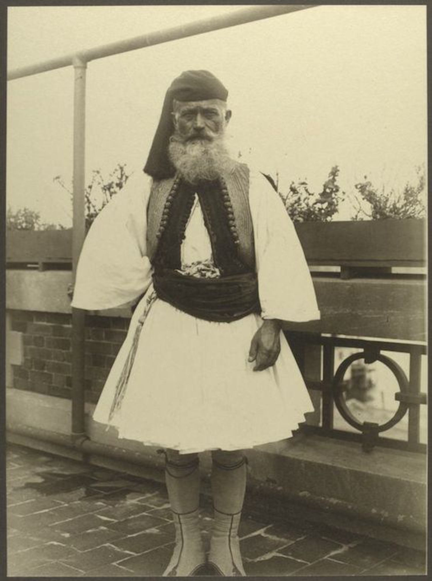 A Greek Soldier. Portraits for Ellis Island.