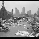 Sunbathing New Yorkers, Tudor City, 1943