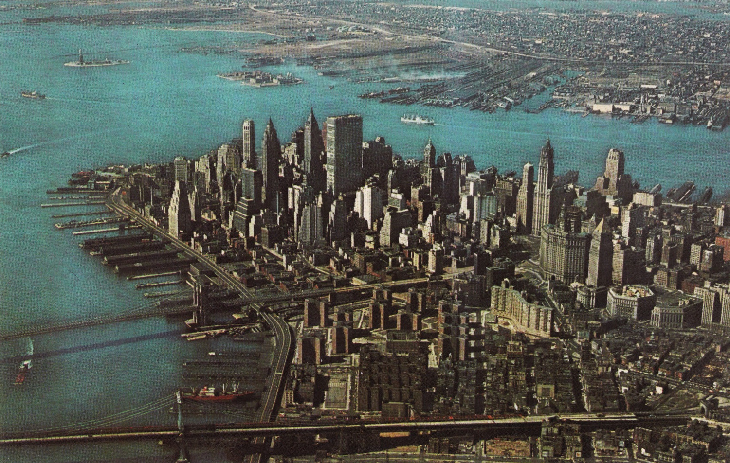 Looking south in 1964 towards the financial district.
