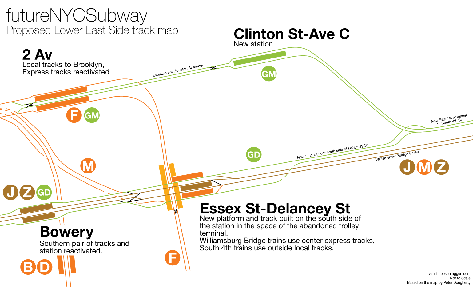 New York Subway Map G Line.Proposed Track Map Showing How New Crosstown Loop Lines Would