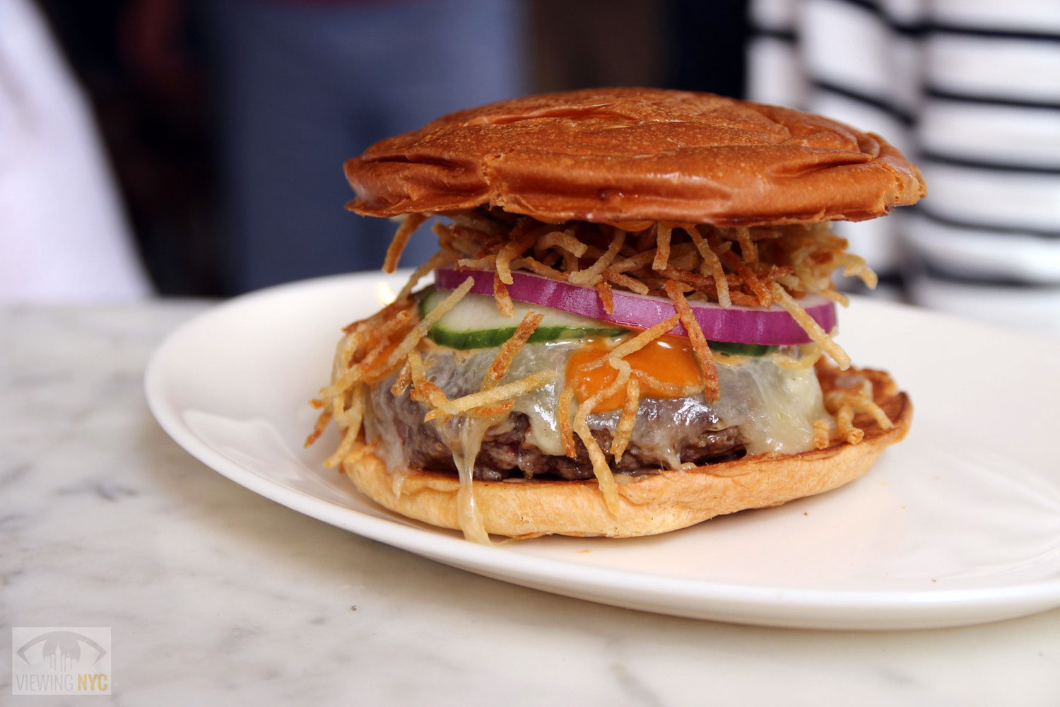 The Fedora Burger at Bar Sardine