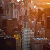 Sunrise over the Chrysler Building, Midtown, Manhattan. @flynyon