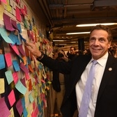 Governor Cuomo's Message to New York | Governor Joins Thousands in Posting Messages Expressing Hope and Resilience in Union Square Subway Station