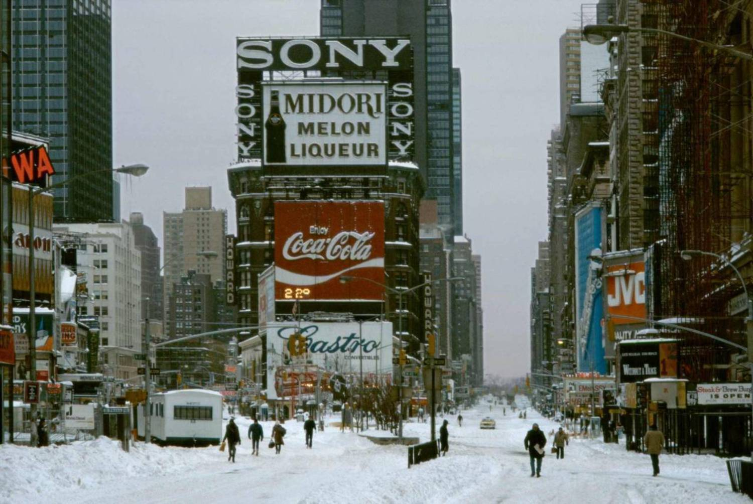 Snowy Times Square, 1984