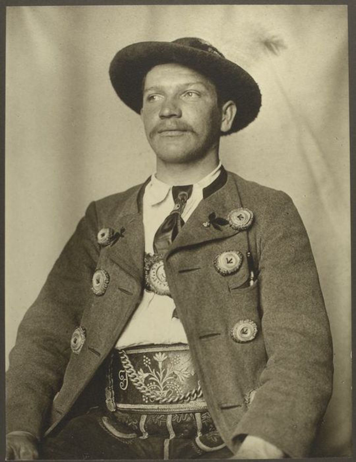 A Bavarian man. Portraits for Ellis Island.