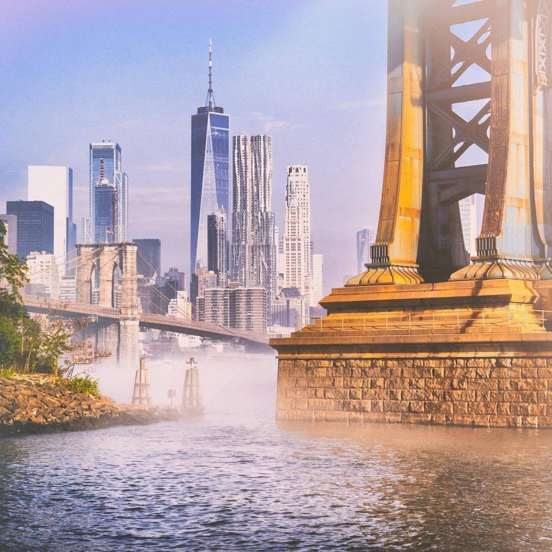 Dumbo, Brooklyn. Photo via @bklyn_block #viewingnyc #newyork #newyorkcity #nyc #manhattanbridge #dumbo