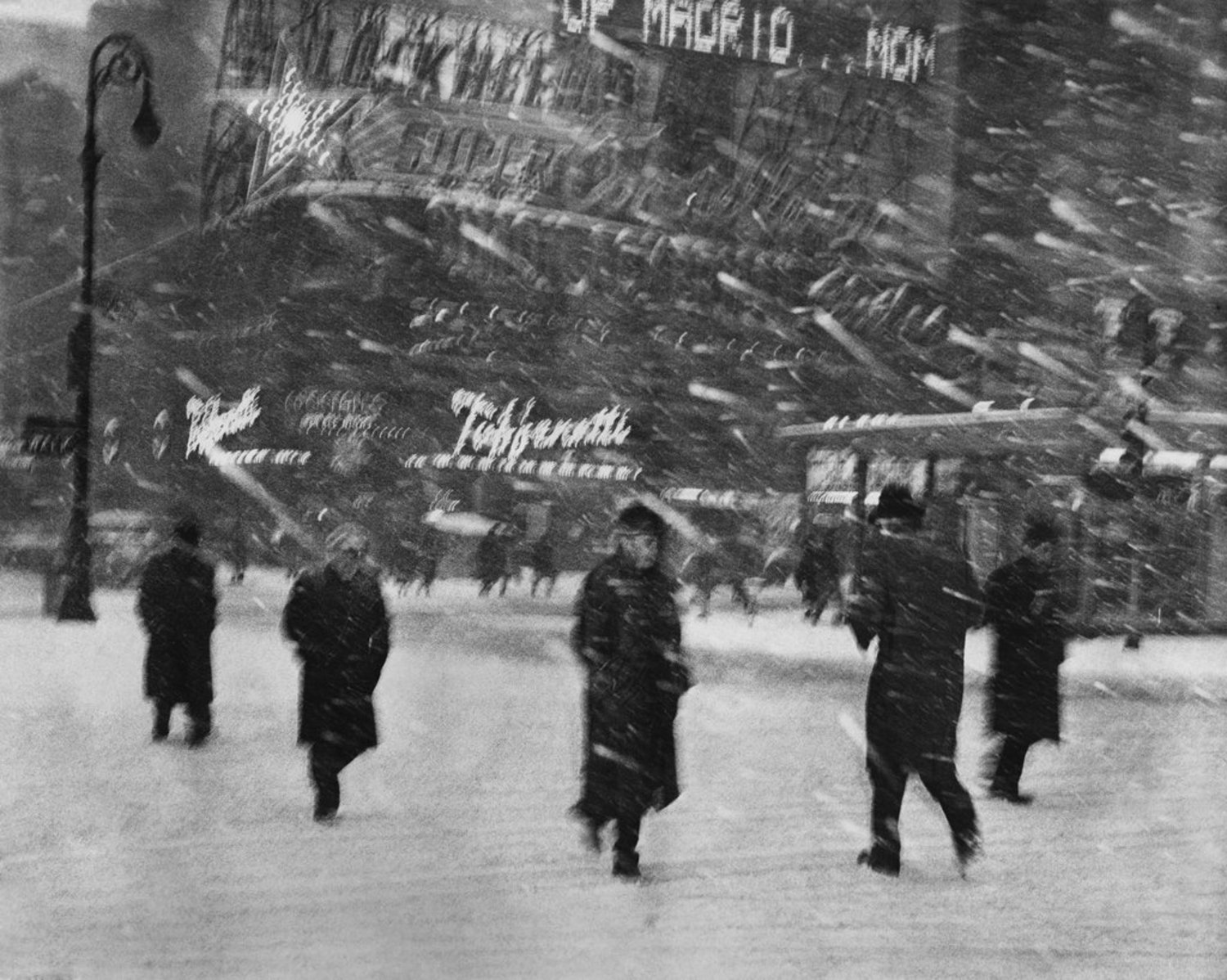 March 3, 1960: Blizzard conditions in Times Square as a system of storms blanketed much of the United States, wreaking customary havoc by grounding planes, halting transit and burying suburbs.
