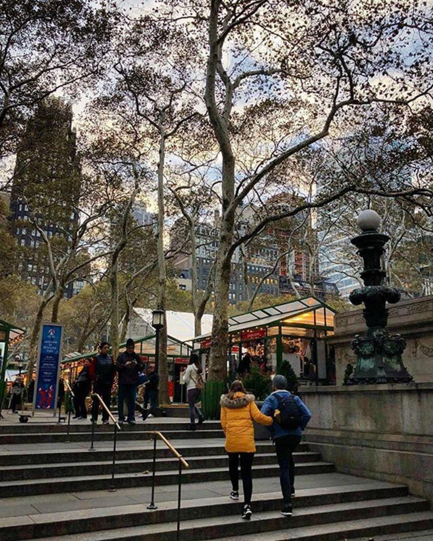 Bryant Park, New York. Photo via @nyc_russ #viewingnyc #newyorkcity #newyork #nyc