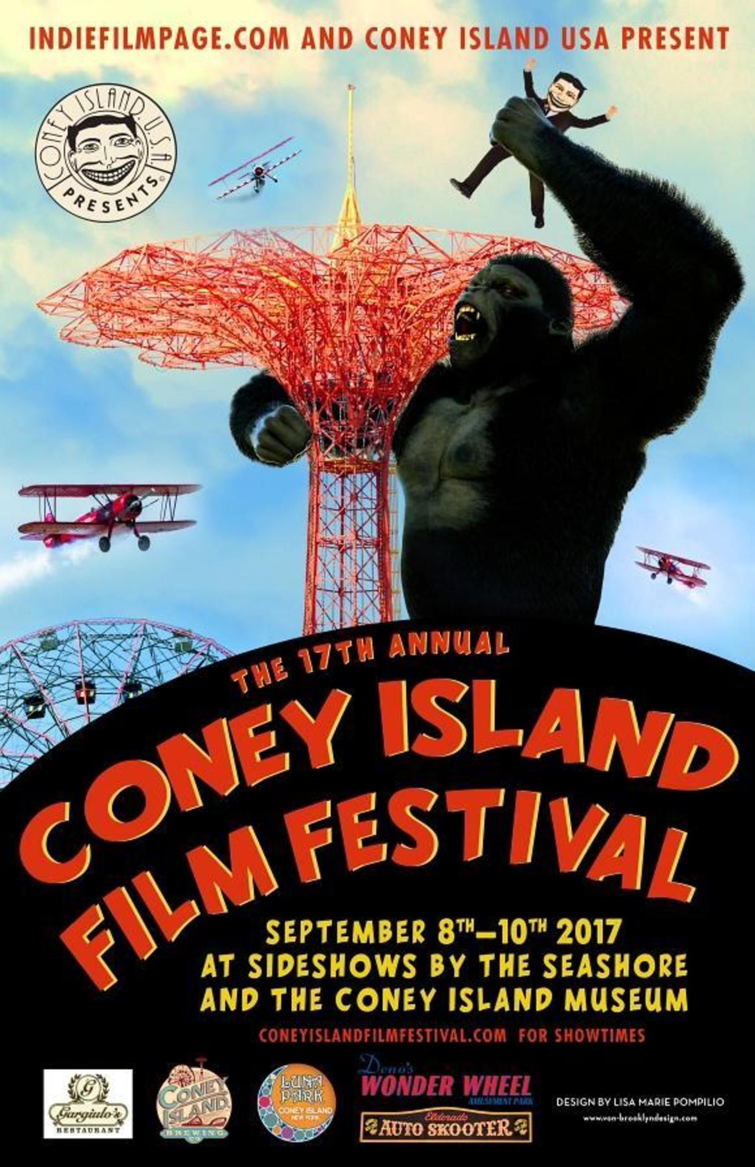 17th Annual Coney Island Film Festival. September 8th - 10th, 2017