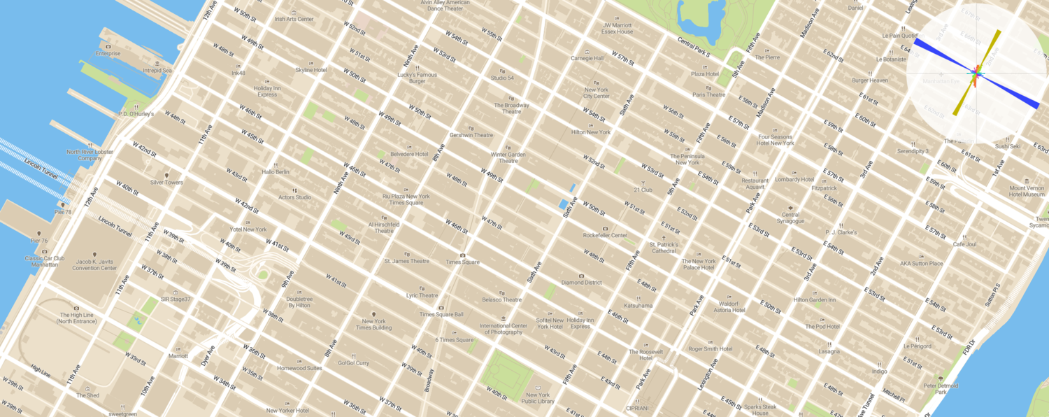Manhattan's street orientation graph (screenshot)
