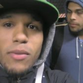 Dominican pranksters place a stink bomb inside a NYC subway car