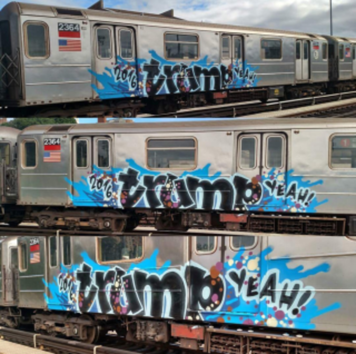 1 Train Gets Graffiti Bombed—Again, And What It Says Will Surprise You