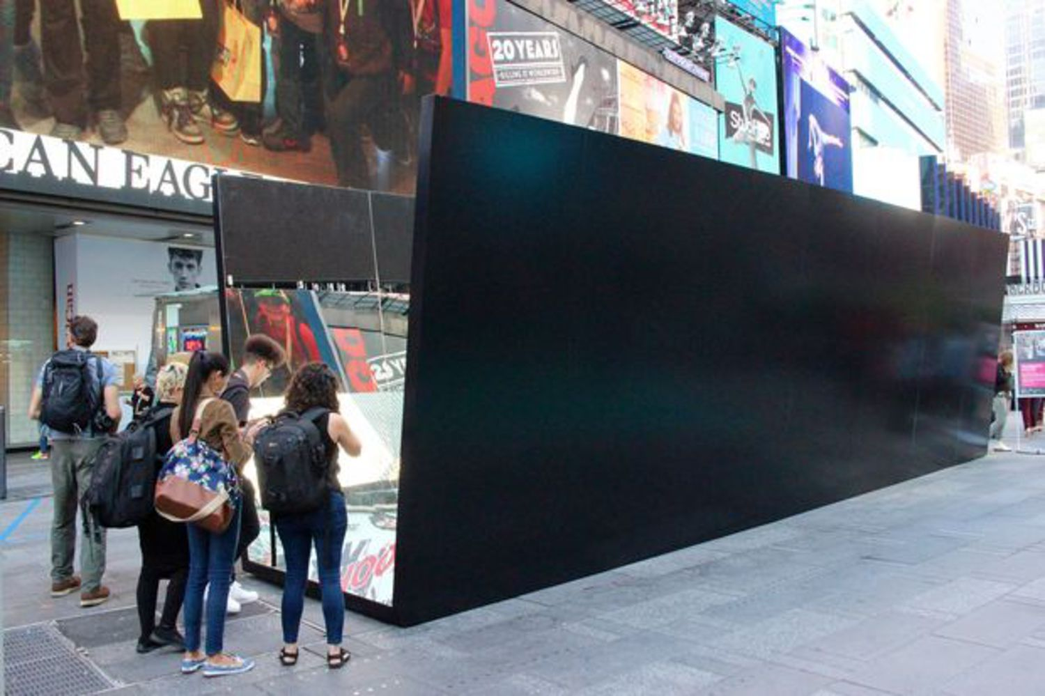 An exterior view of the installation.