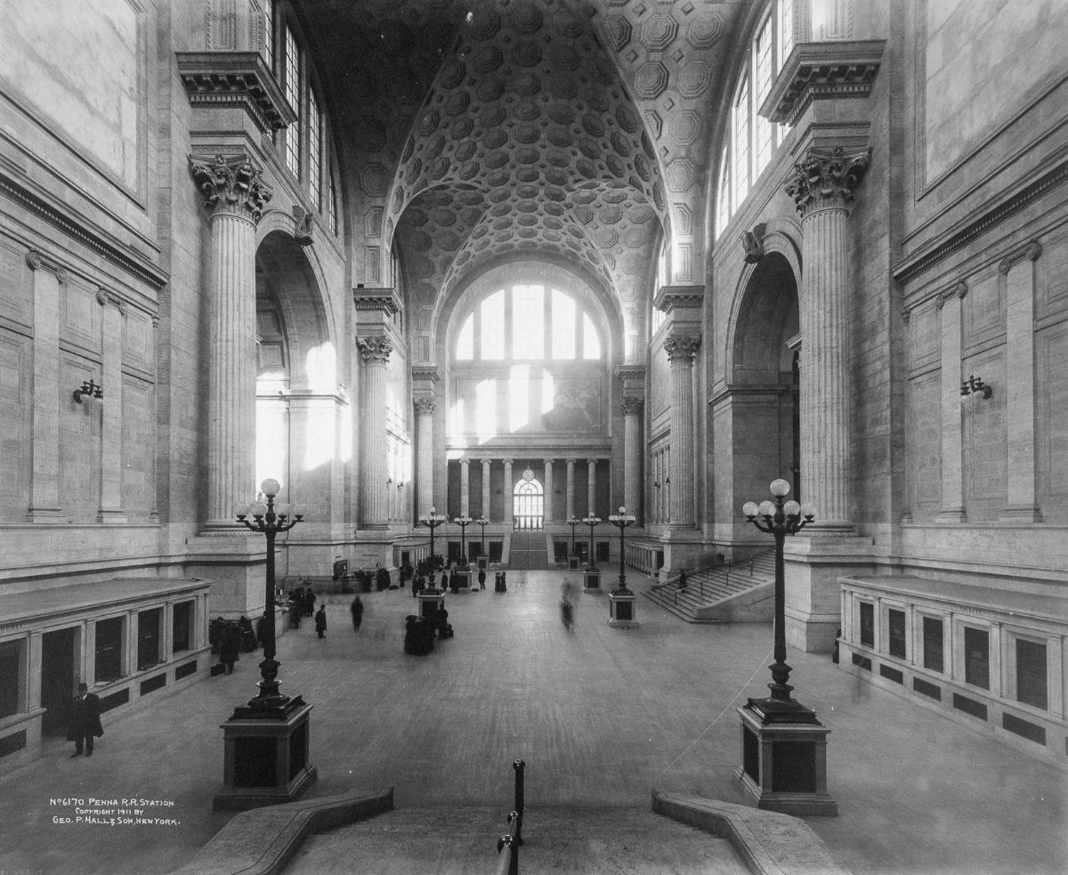 Main Waiting Room, Penn Station, New York, ca. 1910