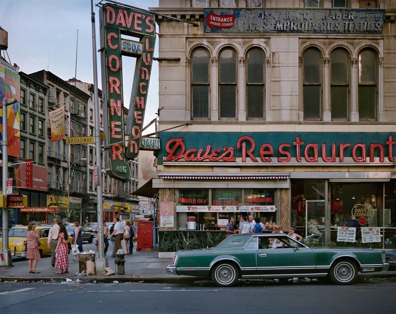 Dave's Restaurant, Broadway and Canal St, Manhattan, 1984