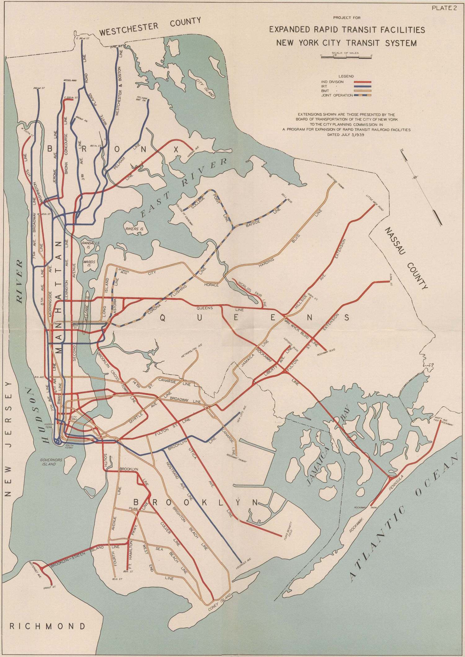 Extended Rapid Transit Facilities, New York City Transit System, 1939