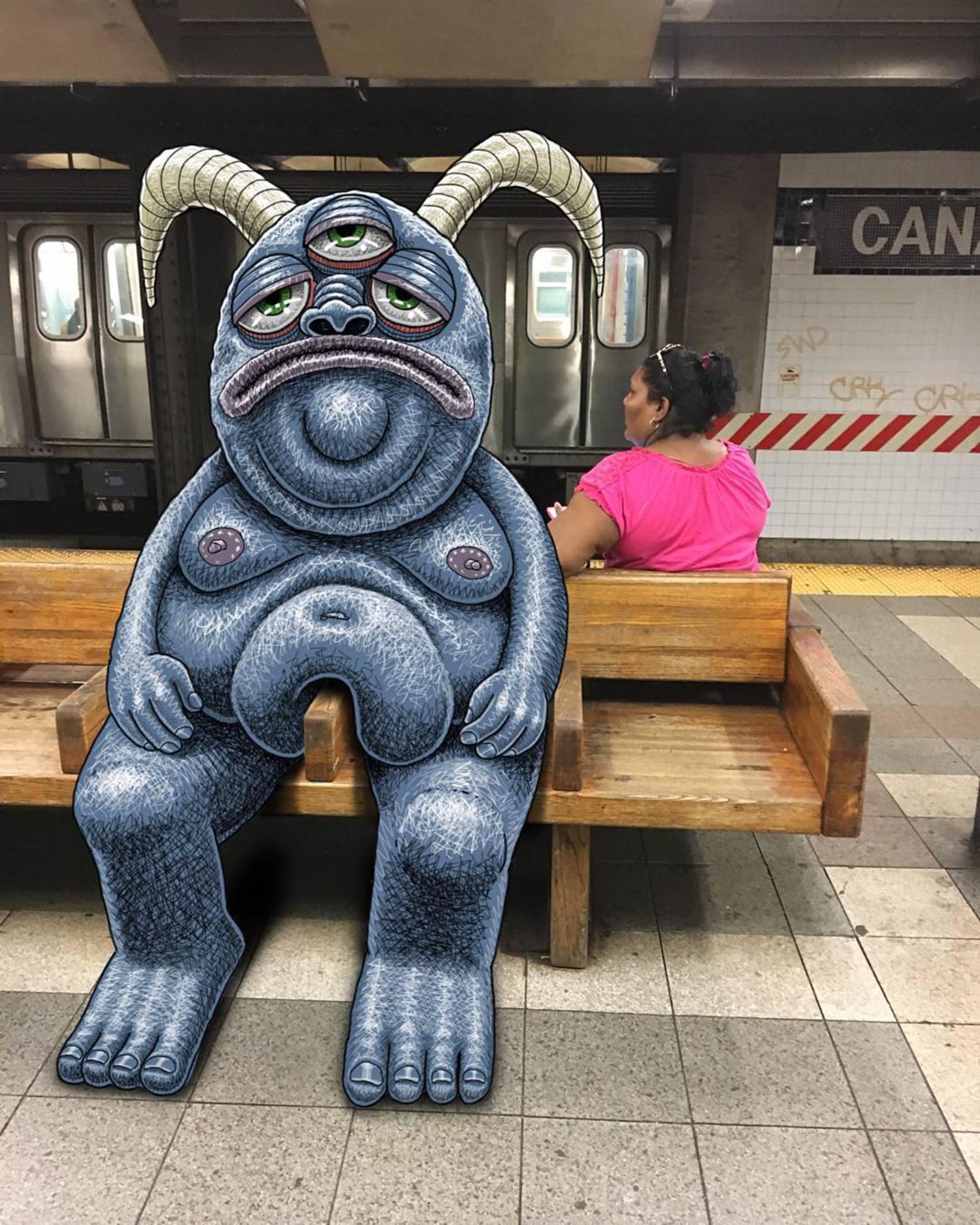#subwaydoodle #subway #doodle #swd #nyc #canalstreet #twoseats