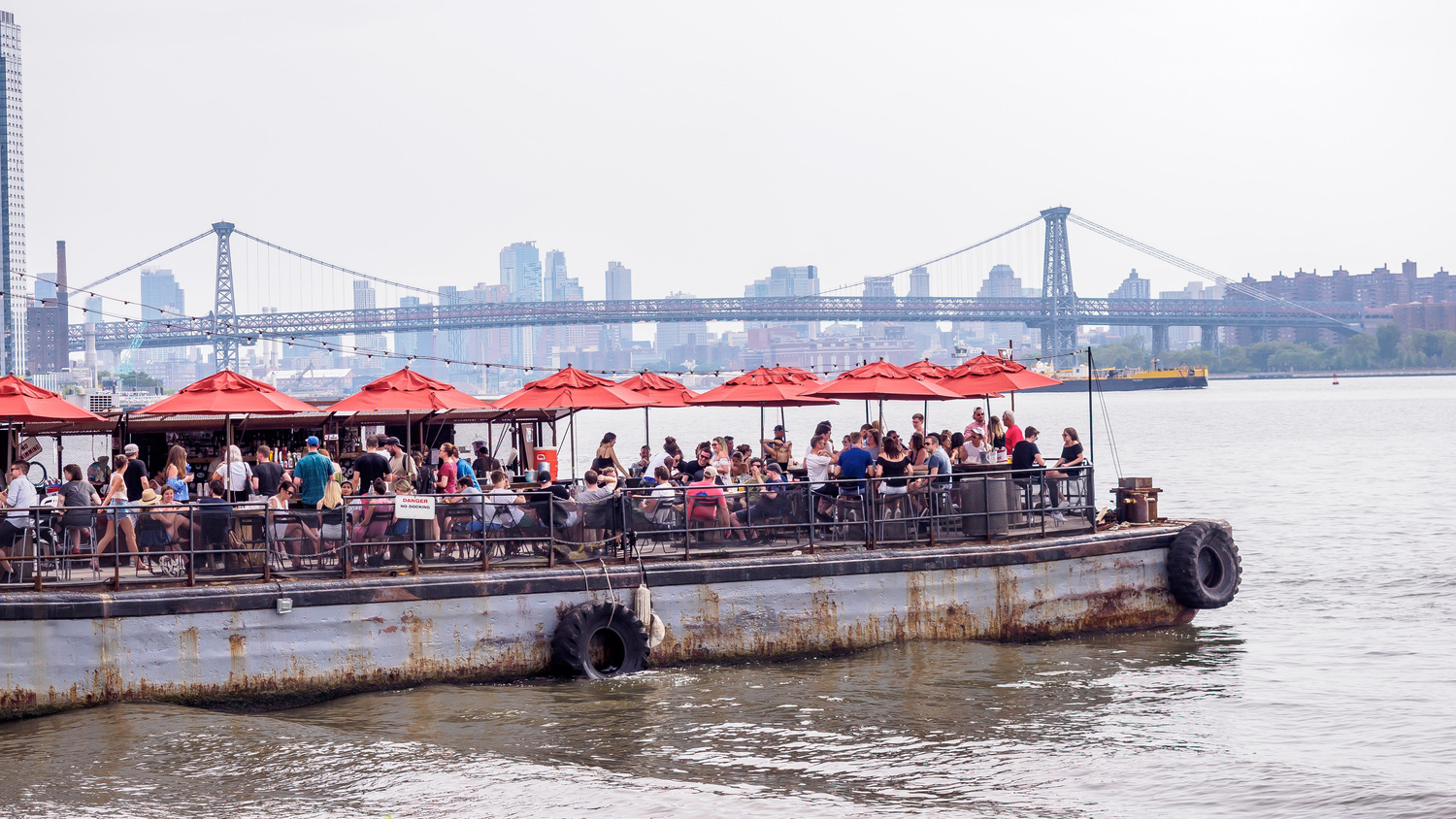 The Brooklyn Barge | Taken from WNYC Transmitter Park