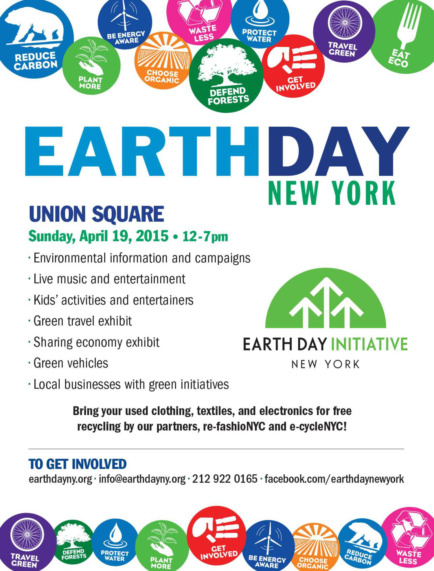 25th Annual Earth Day New York Celebration in Union Square