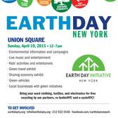 25th Annual Earth Day New York Celebration in Union Square