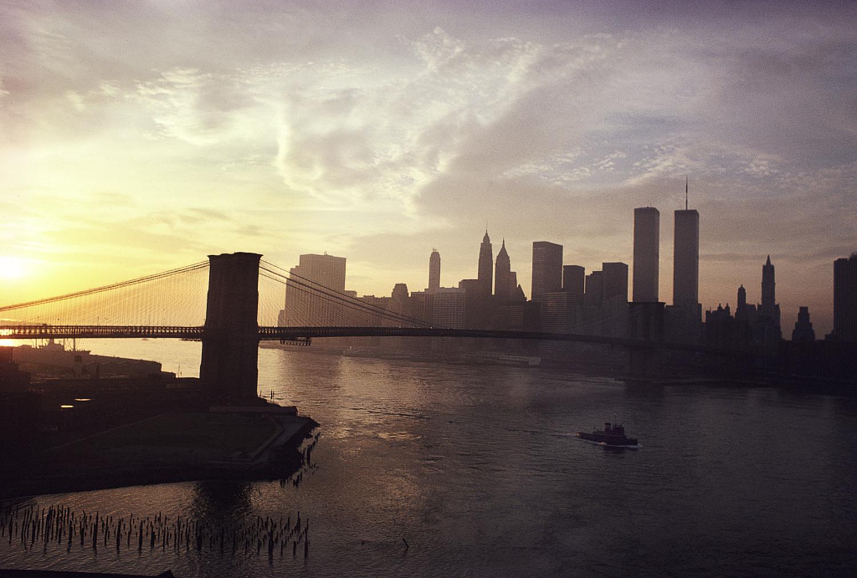 View of Lower Manhattan from the Manhattan Bridge, November 1979