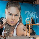 Ronda Rousey NYC graffiti mural time-lapse