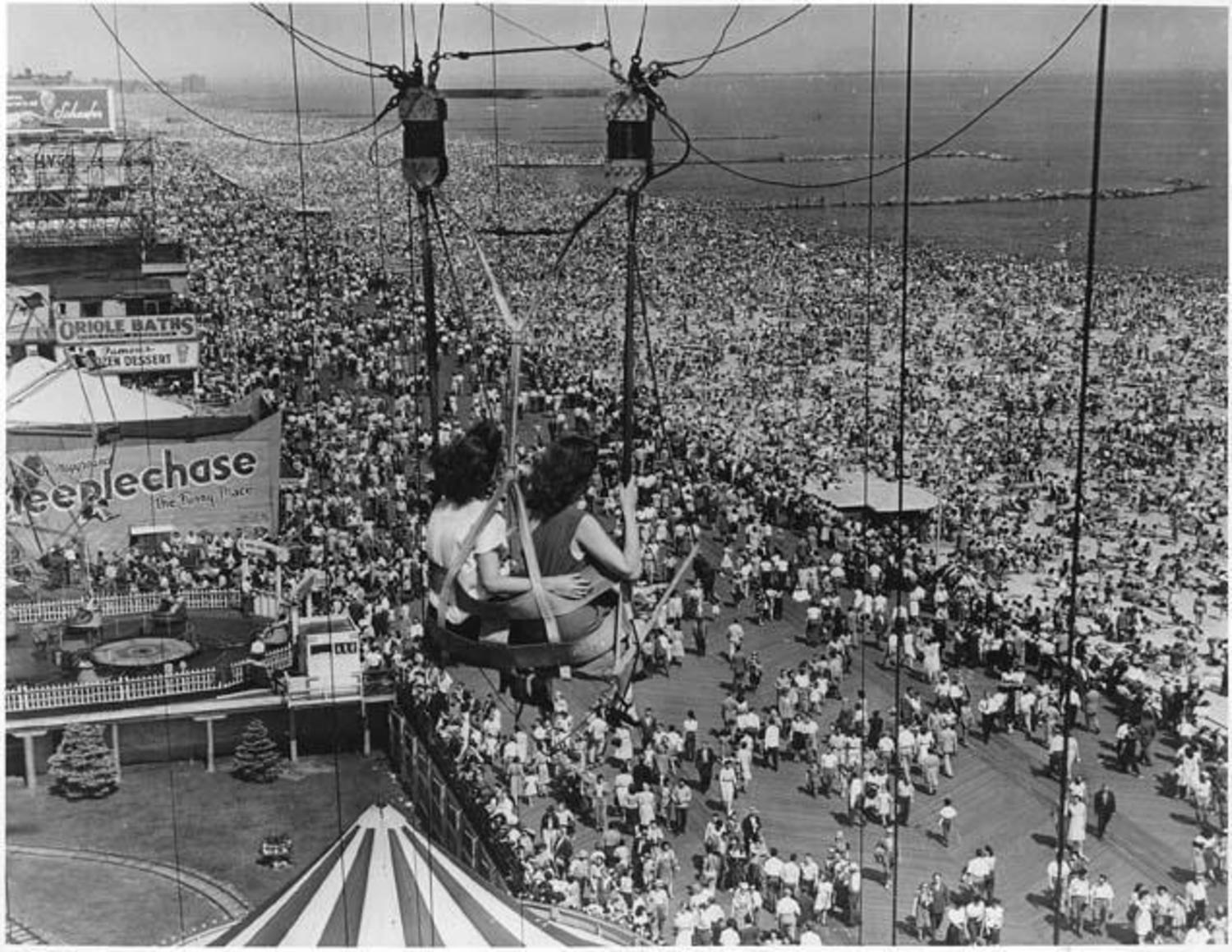 View from the Parachute Jump. 1946
