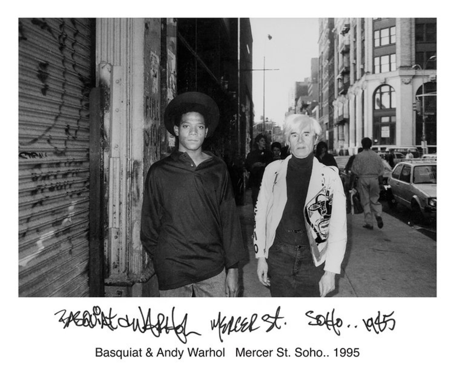 Basquiat & Andy Warhol Mercer St. Soho.. 1995