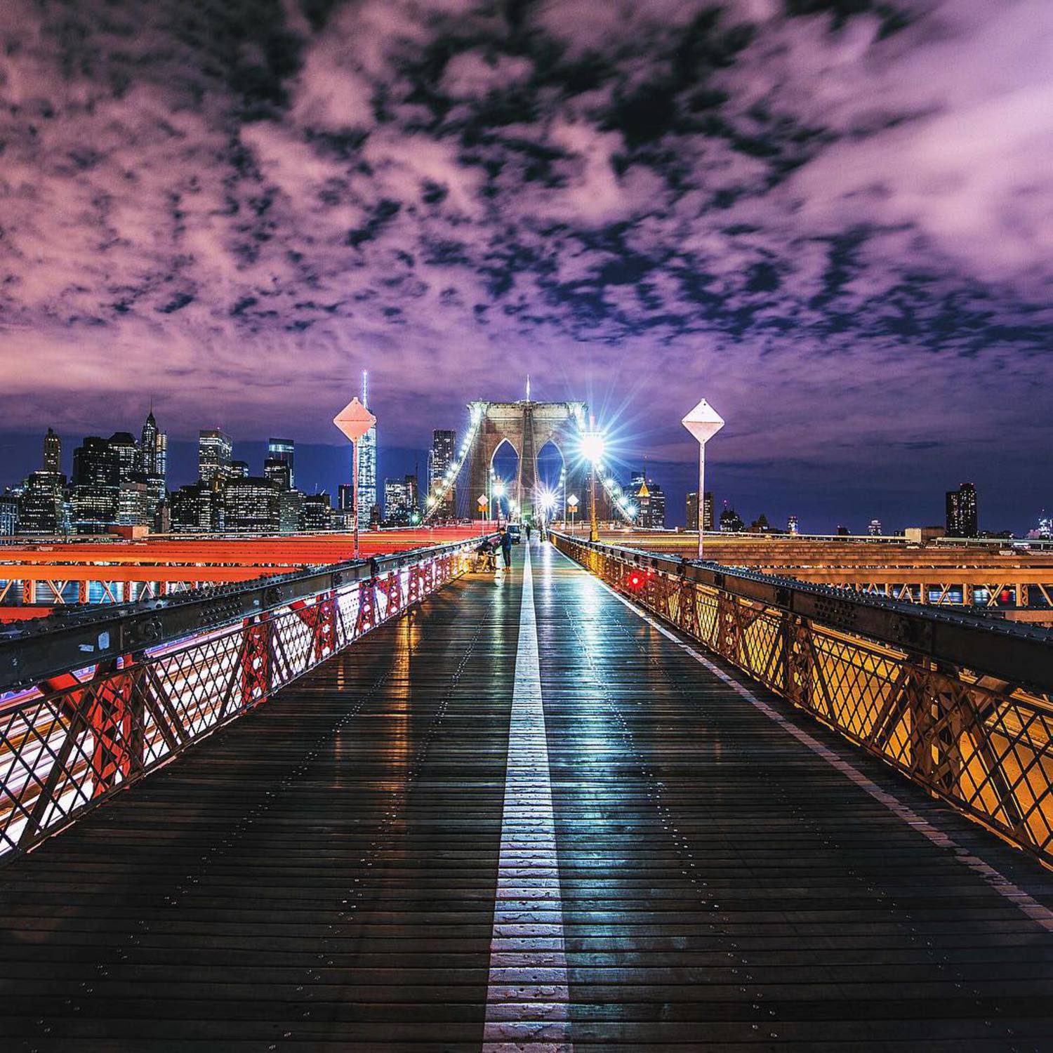 • Symmetry •  Here's a shot of the magnificent Brooklyn Bridge a few nights ago with the editing inspired by @asteryx and @jude_allen! The clouds were perfect and super clean symmetry made this a favourite of mine!  5D MK3 w/ 16-35mm f/4 |  4"