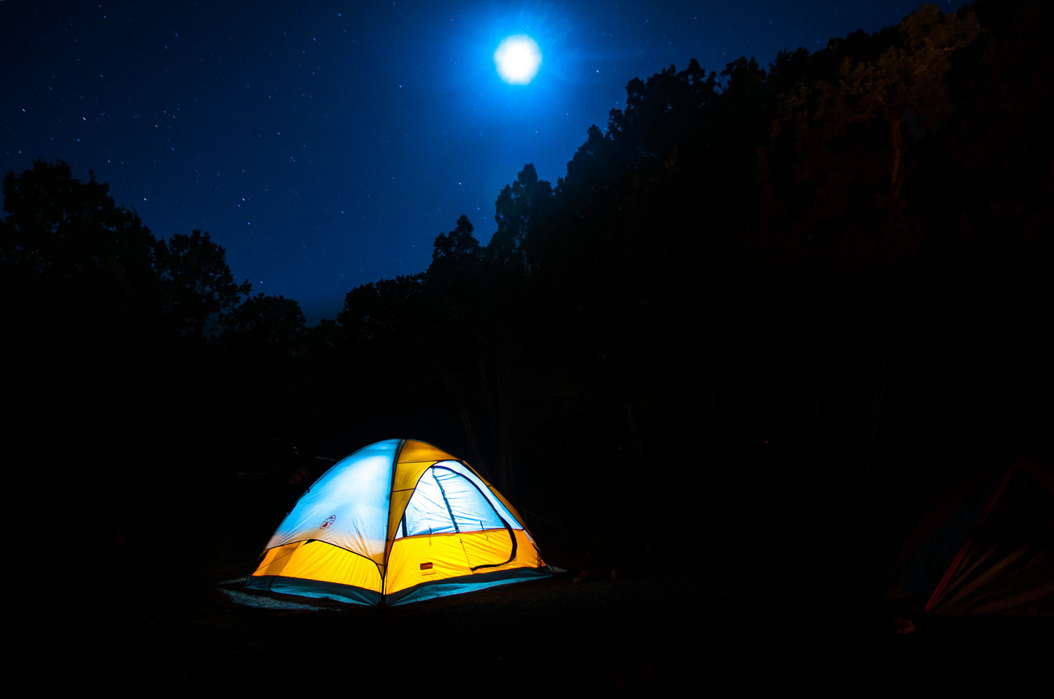 "Camping by moonlight | This photo is from our trip to vegas/grand canyon from the memorial day weekend. We didn't book the camp site but was lucky to get one of those ""first come first serve"" camp sites. The key is to reach early by 10AM or so and you can grab one of them. We camped there for a day and this is the <a href=""http://www.nps.gov/grca/planyourvisit/cg-sr.htm#CP_JUMP_153567"" rel=""nofollow"">desert view campsite</a>.  Katie did an amazing book cover for school project using this image: <a href=""http://www.flickr.com/photos/kmwillia1/7836013538/in/photostream"">www.flickr.com/photos/kmwillia1/7836013538/in/photostream</a> Illustration: <a href=""http://memorysongproject.wordpress.com/2012/11/22/10/"" rel=""nofollow"">memorysongproject.wordpress.com/2012/11/22/10/</a>  Usage:  1. <a href=""http://nj1015.com/going-camping-nj-launches-new-247-reservation-system/"" rel=""nofollow"">nj1015.com/going-camping-nj-launches-new-247-reservation-...</a> 2. <a href=""http://cfrankie.wordpress.com/2012/11/09/solo-camping-to-coldly-go/"" rel=""nofollow"">cfrankie.wordpress.com/2012/11/09/solo-camping-to-coldly-go/</a> 3. <a href=""http://kensingtonbk.com/kids/want-to-go-camping-in-prospect-park-heres-how"" rel=""nofollow"">kensingtonbk.com/kids/want-to-go-camping-in-prospect-park...</a>"