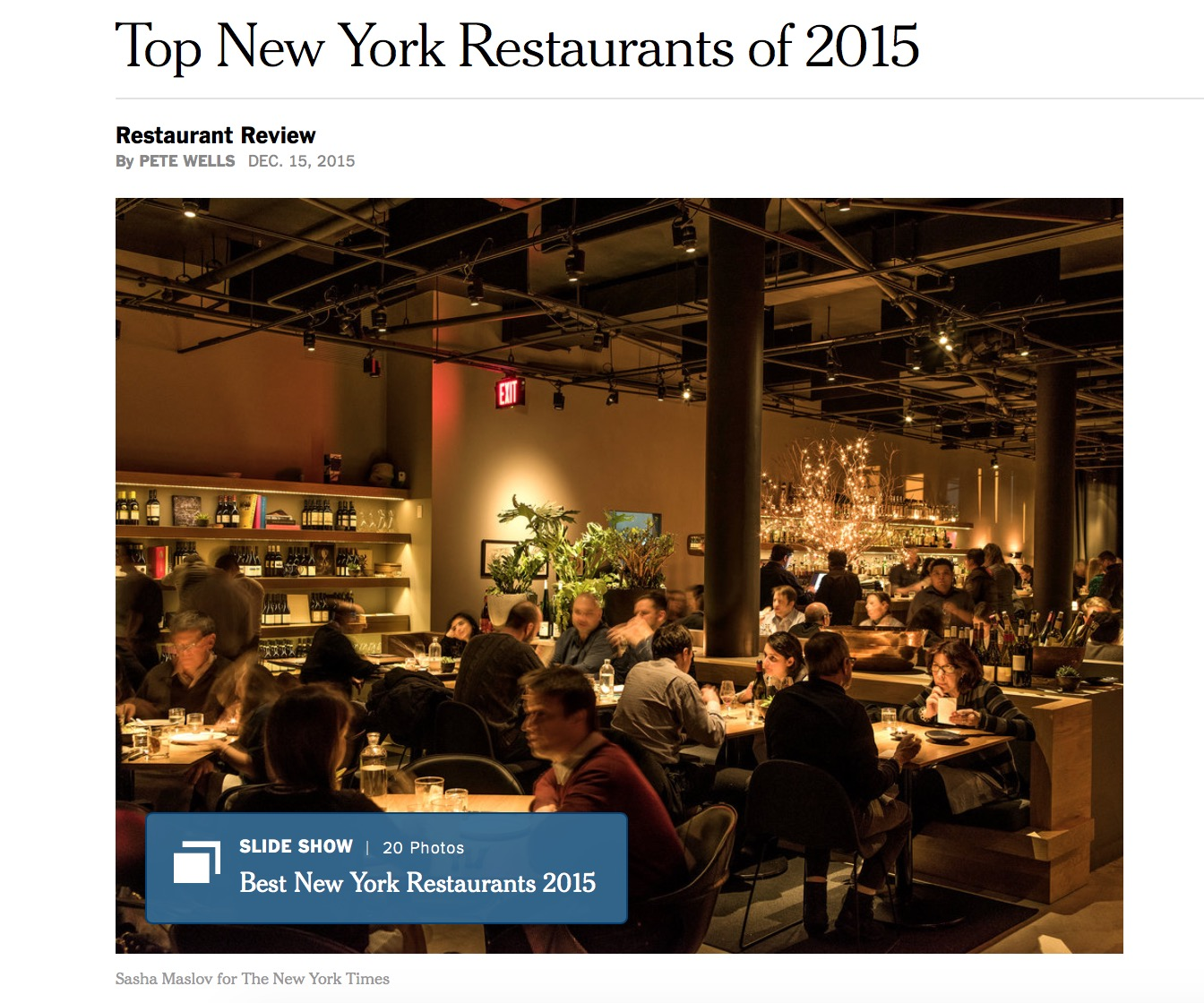 pete wells of the new york times reveals his 2015 top new