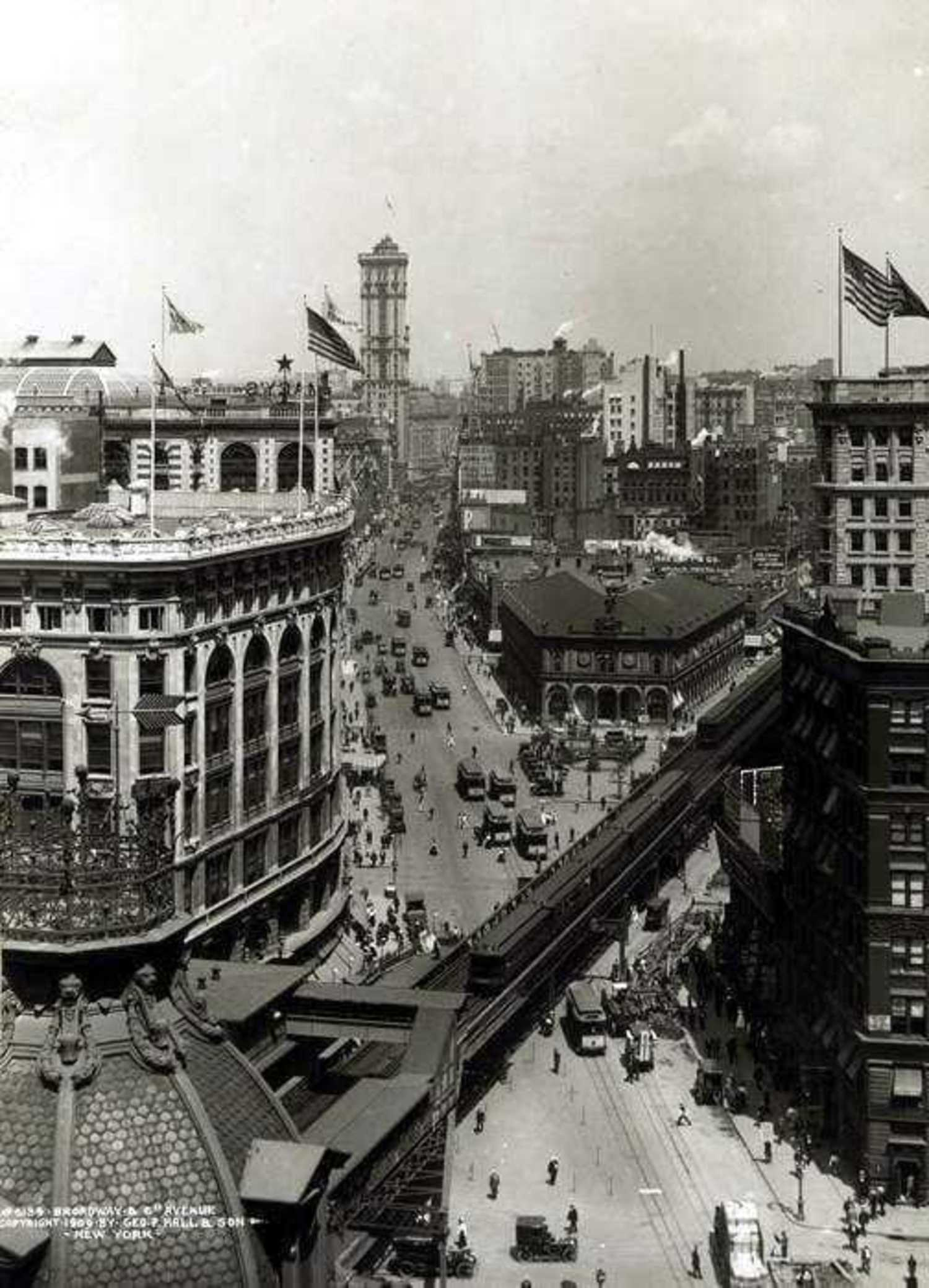 New York City, Herald Square NY Times Building 1909